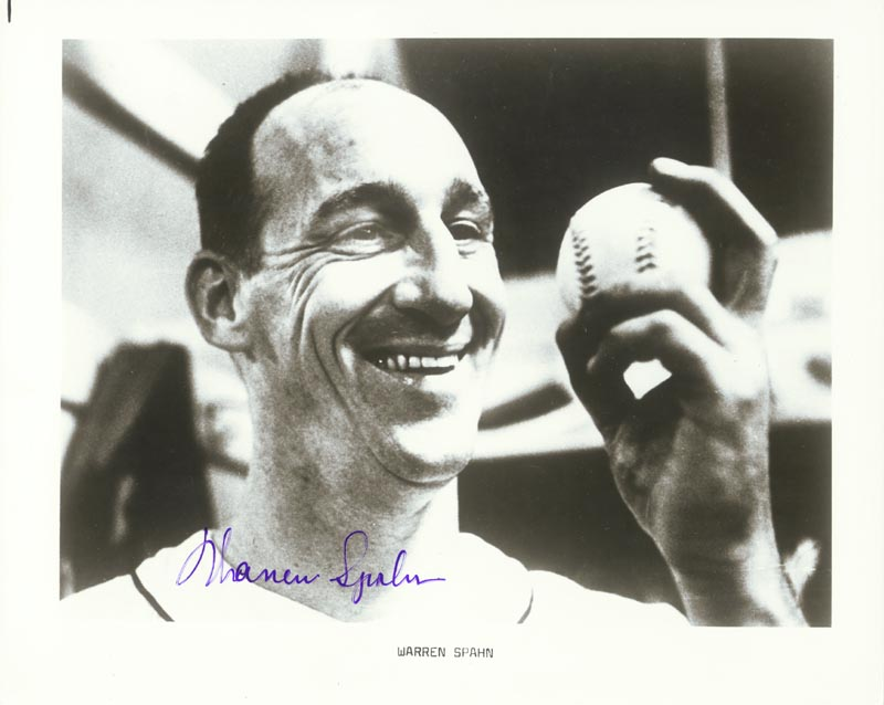 Image 1 for Warren Spahn - Autographed Signed Photograph - HFSID 31119