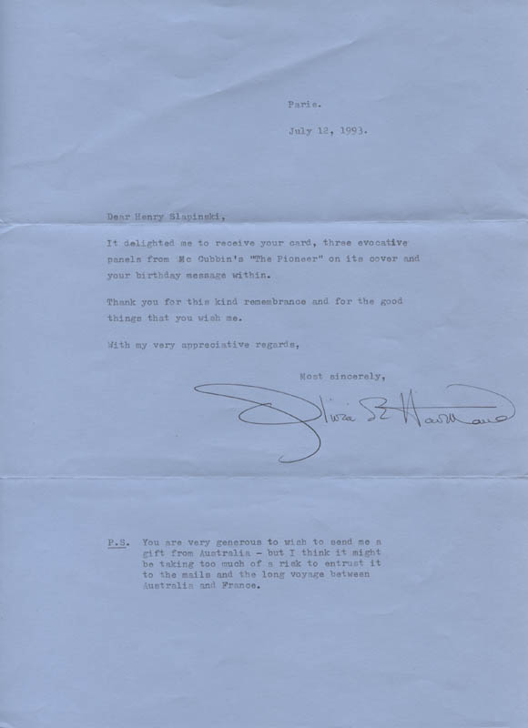 Image 1 for Olivia De Havilland - Typed Letter Signed 07/12/1993 - HFSID 311878