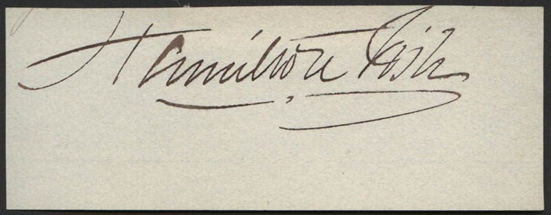Image 1 for Hamilton Fish - Autograph - HFSID 312396
