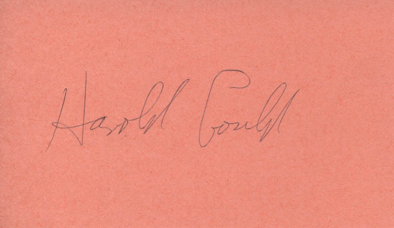 Image 1 for Harold Gould - Autograph - HFSID 312553