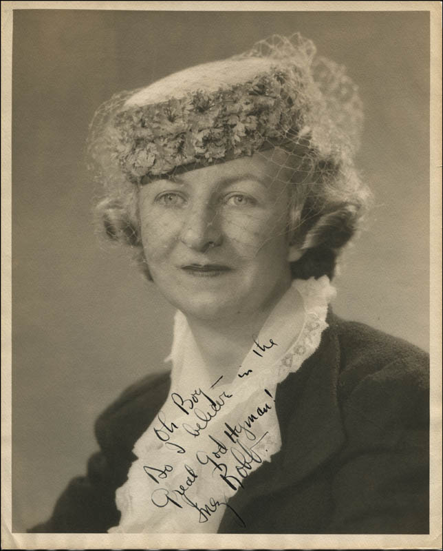 Image 1 for Inez Robb - Autographed Signed Photograph - HFSID 312568