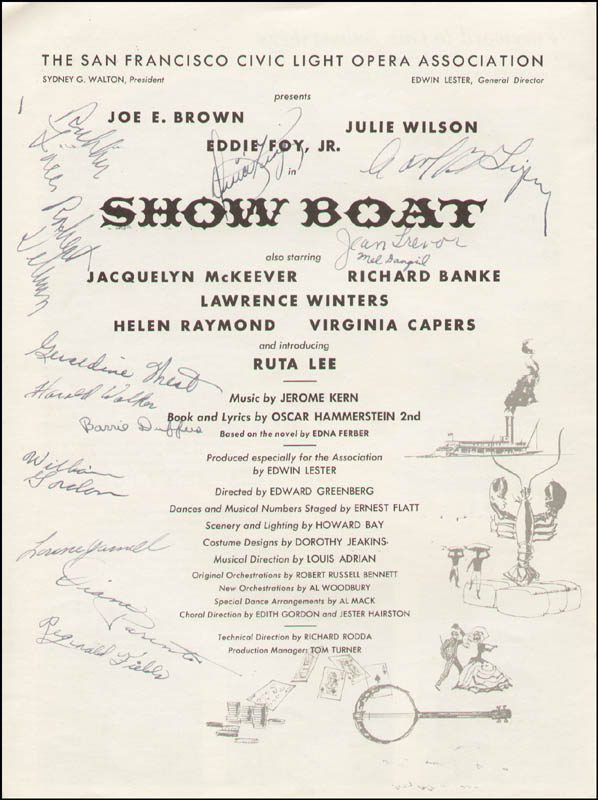 Image 11 for Show Boat Play Cast - Inscribed Show Bill Signed with co-signers - HFSID 312595