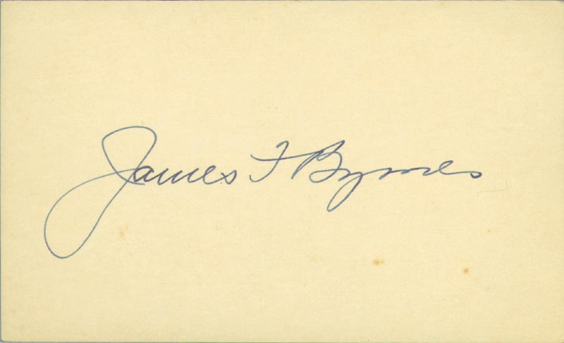 Image 1 for Associate Justice James F. Byrnes - Autograph - HFSID 31274