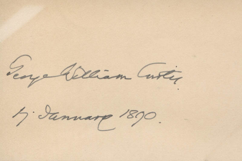 Image 1 for George William Curtis - Autograph 01/17/1890 - HFSID 312887