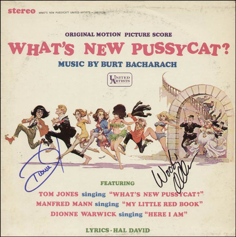 Image 1 for What'S New Pussycat Movie Cast - Record Signed co-signed by: Woody Allen, Dionne Warwick - HFSID 312903