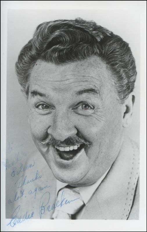 Image 1 for Eddie Bracken - Autographed Inscribed Photograph - HFSID 312962