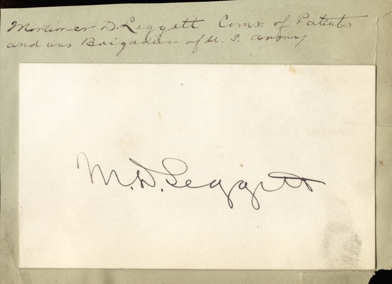 Image 1 for Major General Mortimer D. Leggett - Autograph - HFSID 3130
