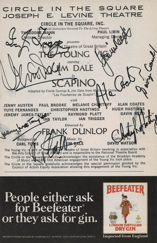 Image 1 for Scapino Play Cast - Show Bill Signed with co-signers - HFSID 313498