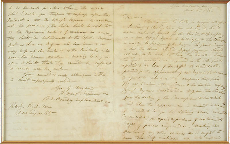 Image 3 for Major General George G. Meade - Autograph Letter Signed 03/06/1843 - HFSID 31356