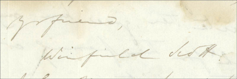 Image 4 for Lt. General Winfield Scott - Autograph Letter Signed 01/18/1832 - HFSID 31368