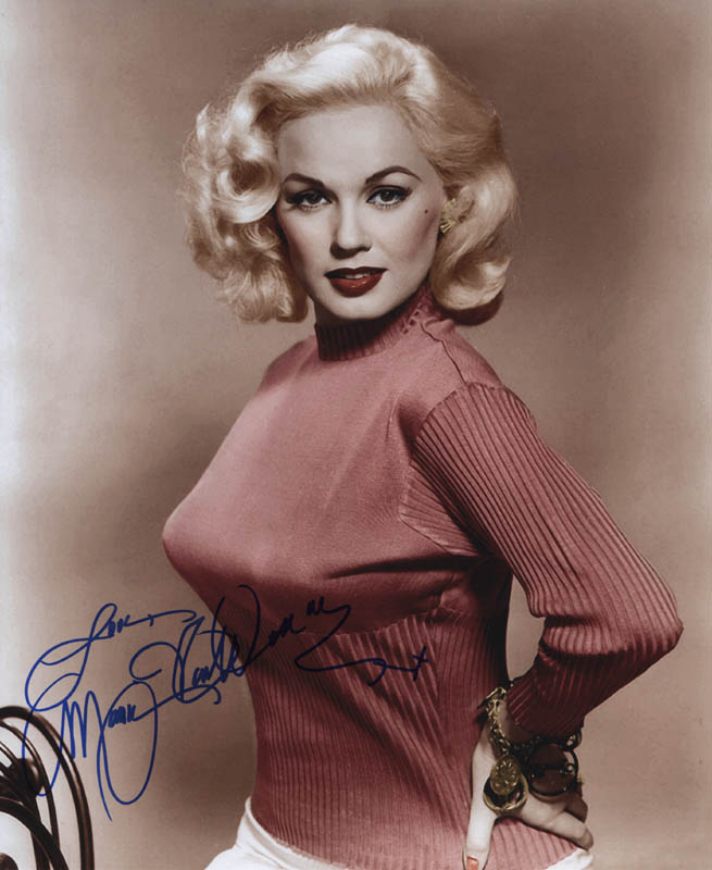 Image 1 for Mamie Van Doren - Autographed Signed Photograph - HFSID 313690