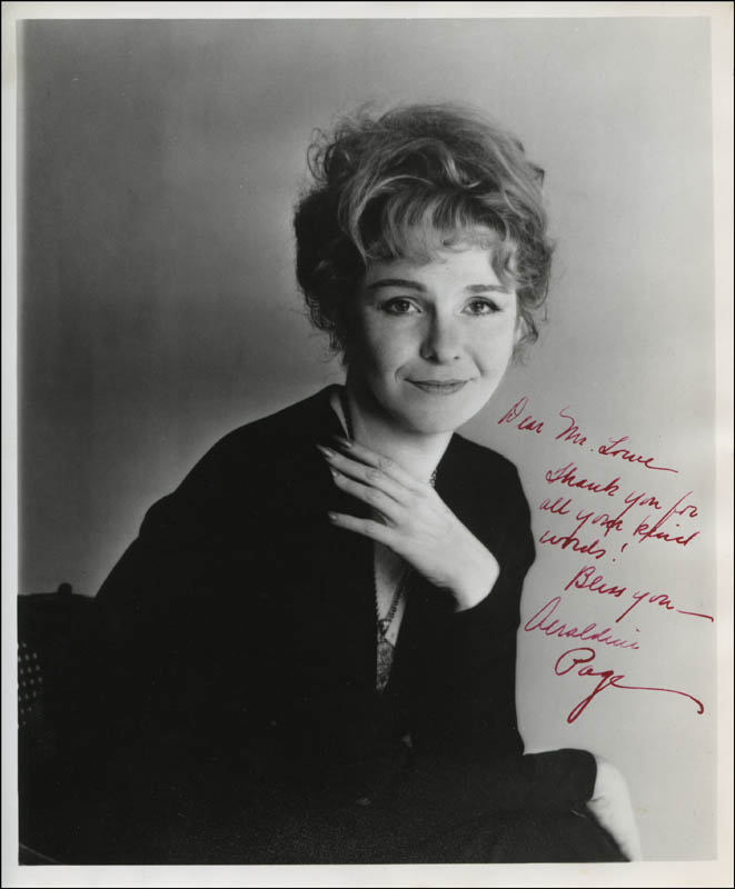 Image 1 for Geraldine Page - Autographed Inscribed Photograph - HFSID 313744