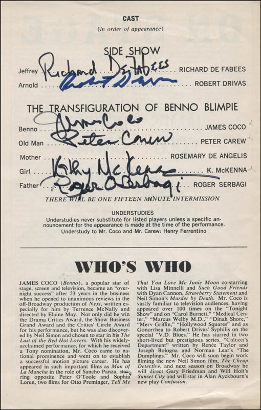 Image 1 for Monsters Play Cast - Show Bill Signed with co-signers - HFSID 313780