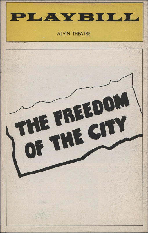 Image 3 for The Freedom Of The City Play Cast - Show Bill Signed co-signed by: Kate Reid, Lenny Baker - HFSID 313781