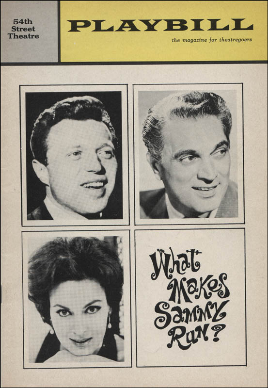 Image 3 for What Makes Sammy Run? Play Cast - Show Bill Signed co-signed by: Steve Lawrence, Bernice Massi - HFSID 313782