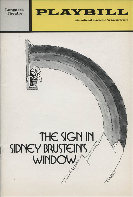 Image 3 for The Sign In Sidney Brustein'S Window Play Cast - Show Bill Signed with co-signers - HFSID 313784
