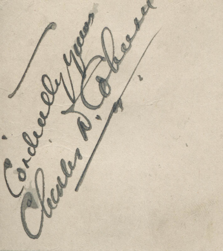 Image 1 for Charles D. Coburn - Autograph Sentiment Signed - HFSID 313812