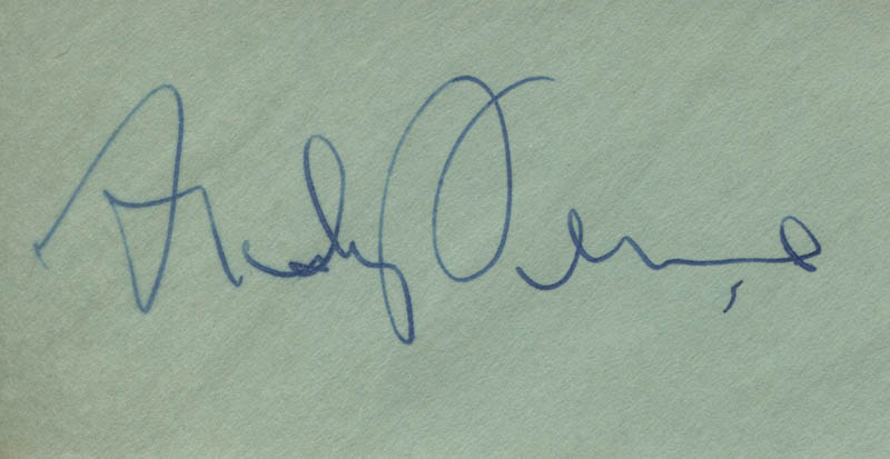 Image 1 for Andy Devine - Autograph - HFSID 313816