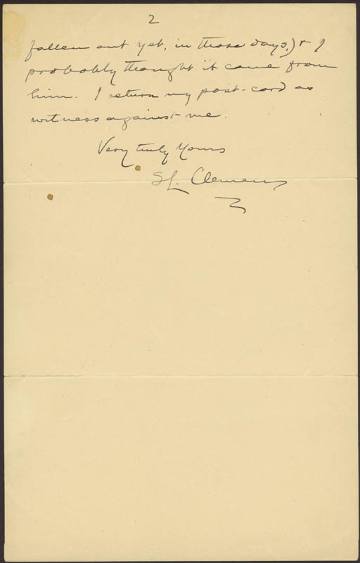 Image 1 for Samuel L. 'Mark Twain' Clemens - Autograph Letter Signed 01/14/1903 - HFSID 31406