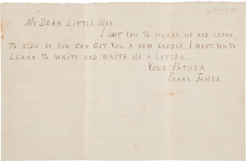 Image 1 for Frank James - Autograph Letter Signed Circa 1884 - HFSID 314407