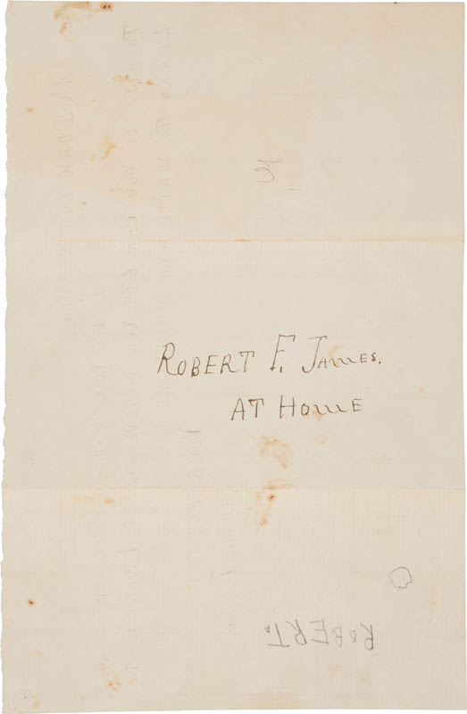 Image 3 for Frank James - Autograph Letter Signed Circa 1884 - HFSID 314407