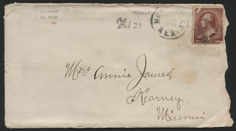 Image 4 for Frank James - Autograph Letter Signed 02/29/1884 - HFSID 314408