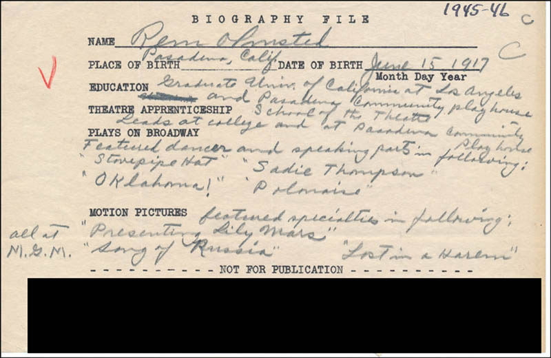 Image 1 for Rem Olmstead - Autograph Document Signed In Text - HFSID 314458