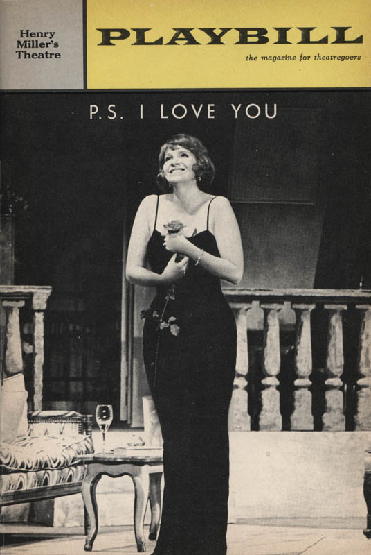 Image 3 for P.S. I Love You Play Cast - Show Bill Signed co-signed by: Geraldine Page, Lee Patterson - HFSID 314560