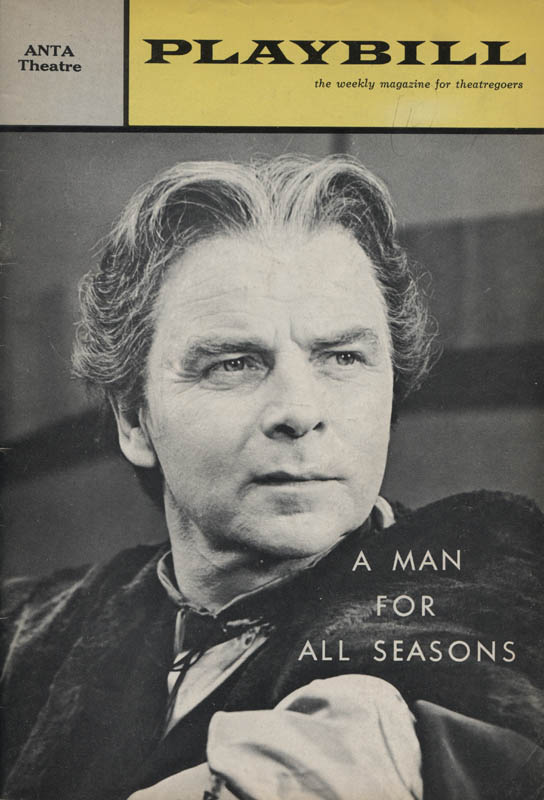 Image 3 for A Man For All Seasons Play Cast - Show Bill Signed co-signed by: George Rose, Emlyn Williams - HFSID 314561