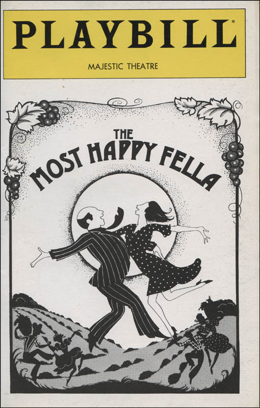 Image 3 for The Most Happy Fella Play Cast - Show Bill Signed with co-signers - HFSID 314596