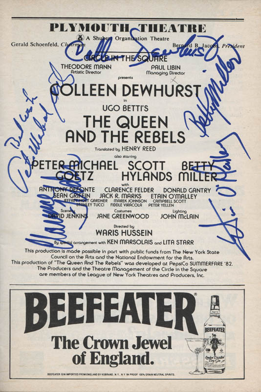 Image 1 for The Queen And The Rebels Broadway Cast - Show Bill Signed with co-signers - HFSID 314677
