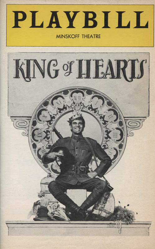 Image 3 for King Of Hearts Play Cast - Show Bill Signed co-signed by: Millicent Martin, Don Scardino - HFSID 314799