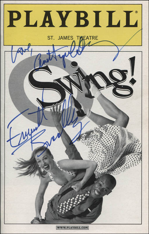 Image 1 for Swing! Play Cast - Show Bill Cover Signed co-signed by: Ann Hampton Callaway, Everett Bradley - HFSID 314911