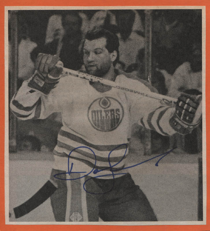 Image 1 for Dave Semenko - Newspaper Photograph Signed - HFSID 315096
