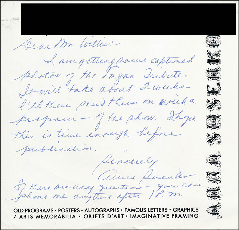 Image 1 for Anna Sosenko - Autograph Letter Signed - HFSID 315146