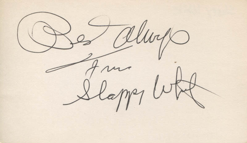 Image 1 for Slappy White - Autograph Sentiment Signed - HFSID 315238