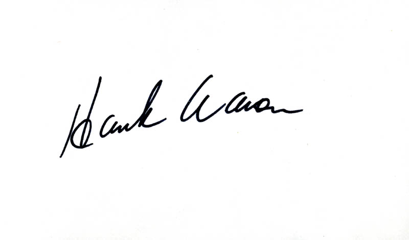 Image 1 for Hank Aaron - Autograph - HFSID 31540