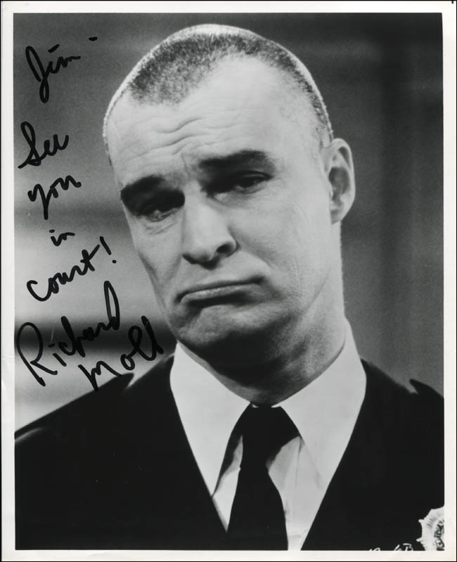 Image 1 for Richard Moll - Autographed Inscribed Photograph - HFSID 315518