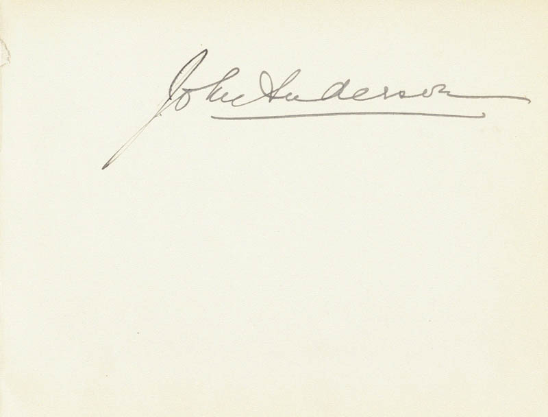 Image 1 for John Anderson - Autograph - HFSID 31553