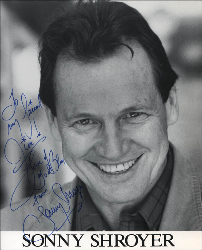Sonny Shroyer Autographed Inscribed Photograph Historyforsale Item 315546 Shroyer is married and has two sons, chris and mark. sonny shroyer autographed inscribed