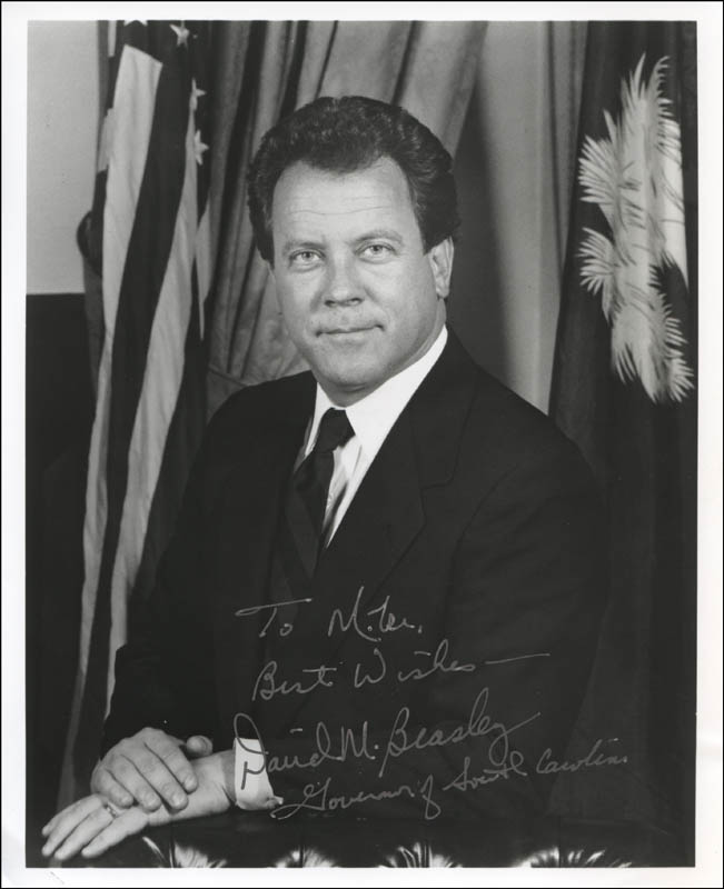 Image 1 for Governor David M. Beasley - Autographed Inscribed Photograph - HFSID 315638