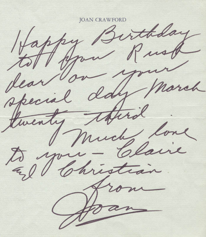 Image 1 for Joan Crawford - Autograph Letter Signed - HFSID 31598