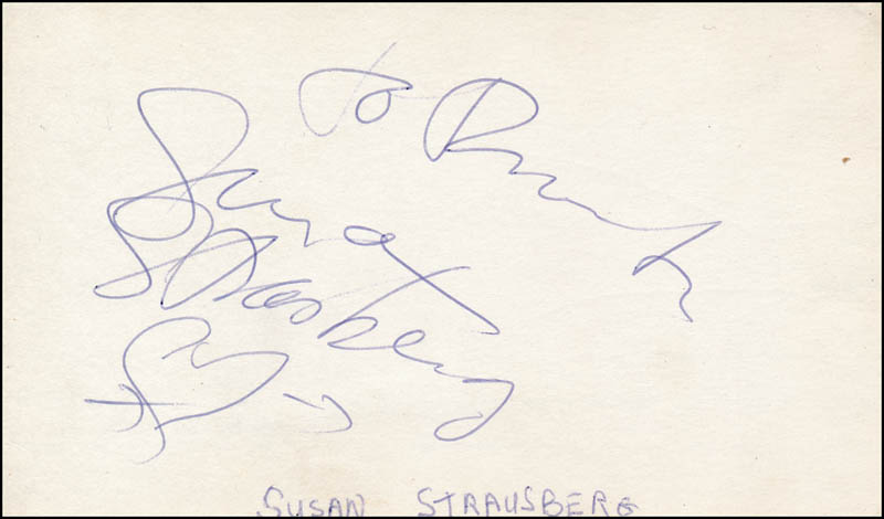 Image 1 for Susan Strasberg - Inscribed Signature - HFSID 316124
