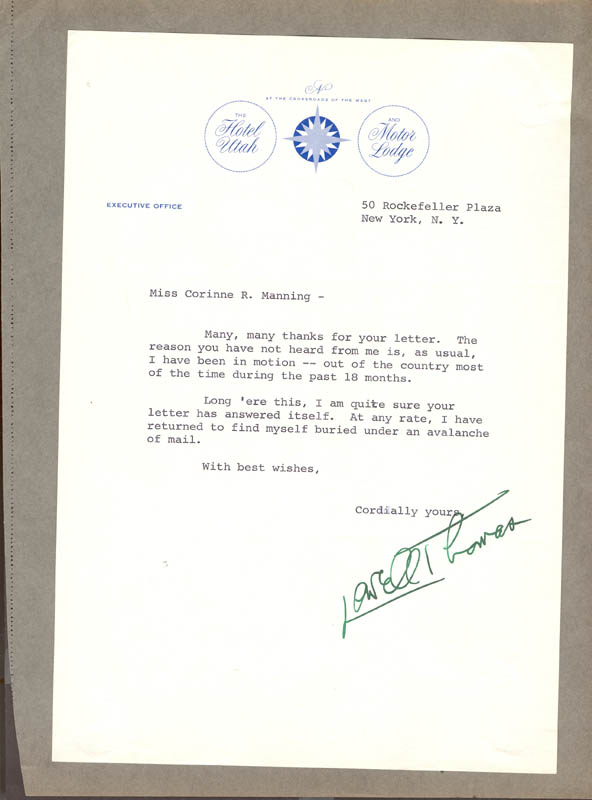 Image 1 for Lowell Thomas - Typed Letter Signed - HFSID 31617