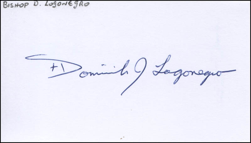 Image 1 for Bishop Dominick J. Lagonegro - Autograph - HFSID 316497