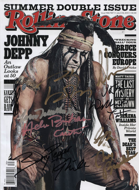 Image 1 for The Lone Ranger Movie Cast - Magazine Signed with co-signers - HFSID 316907