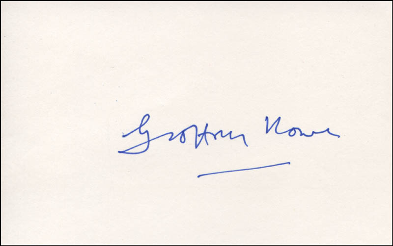 Image 1 for Geoffrey (Baron Howe Of Aberavon) Howe - Autograph - HFSID 317221