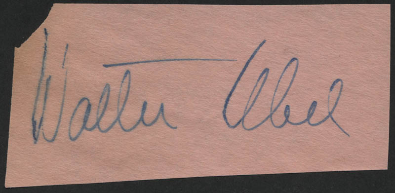 Image 1 for Walter Abel - Autograph - HFSID 317269