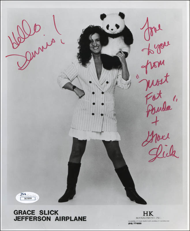 Image 1 for Jefferson Airplane (Grace Slick) - Inscribed Printed Photograph Signed In Ink - HFSID 317561