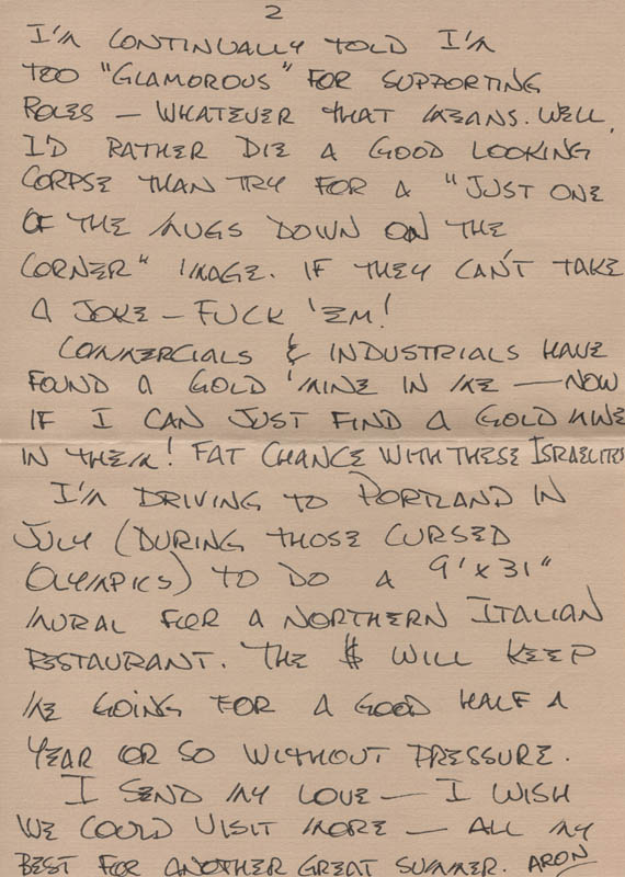 Image 1 for Aron Kincaid - Autograph Letter Signed 05/19/1984 - HFSID 318198